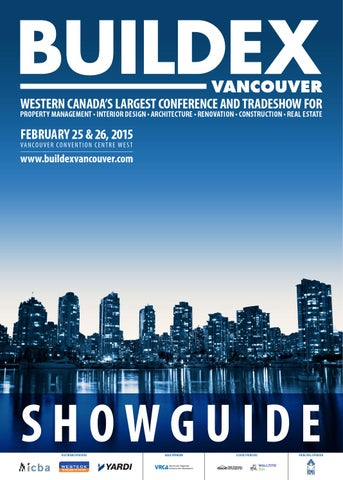 BUILDEX Vancouver Showguide 2015 updated by Informa Vancouver - issuu