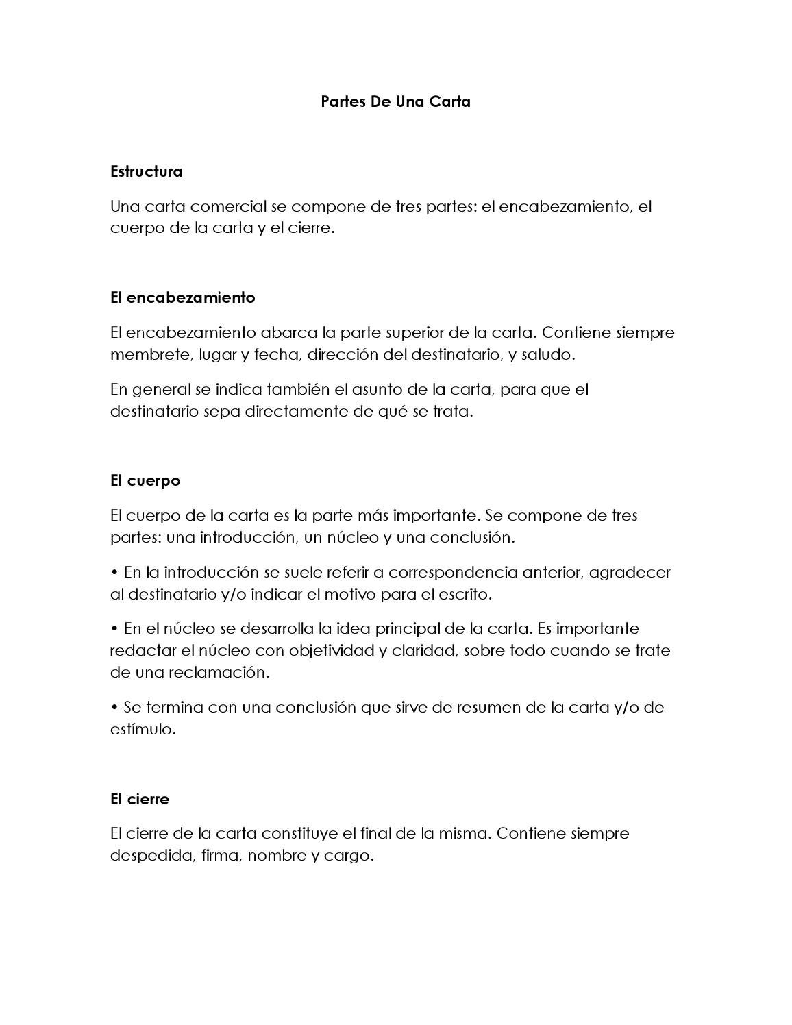 Partes de una carta by CLAUDIA DANIELA GOMEZ SANCHEZestudiante ...