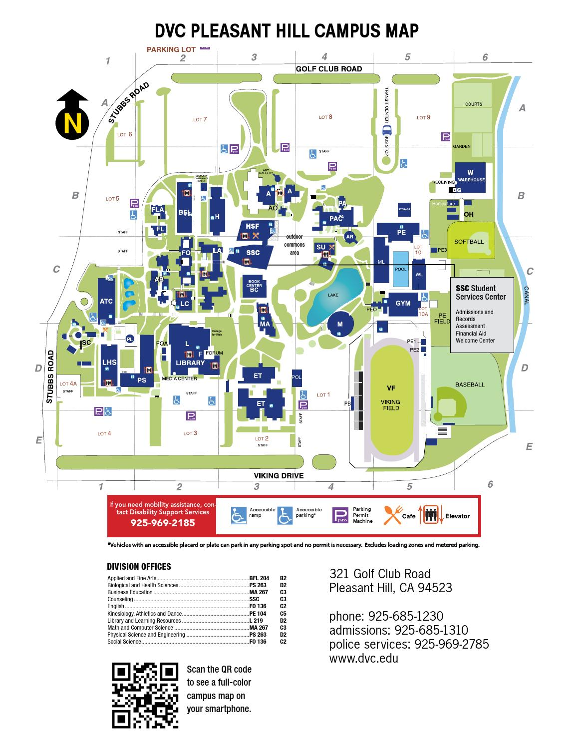 DVC Fall Cl Schedule by Diablo Valley College - issuu Dvc Campus Map Pleasant Hill on