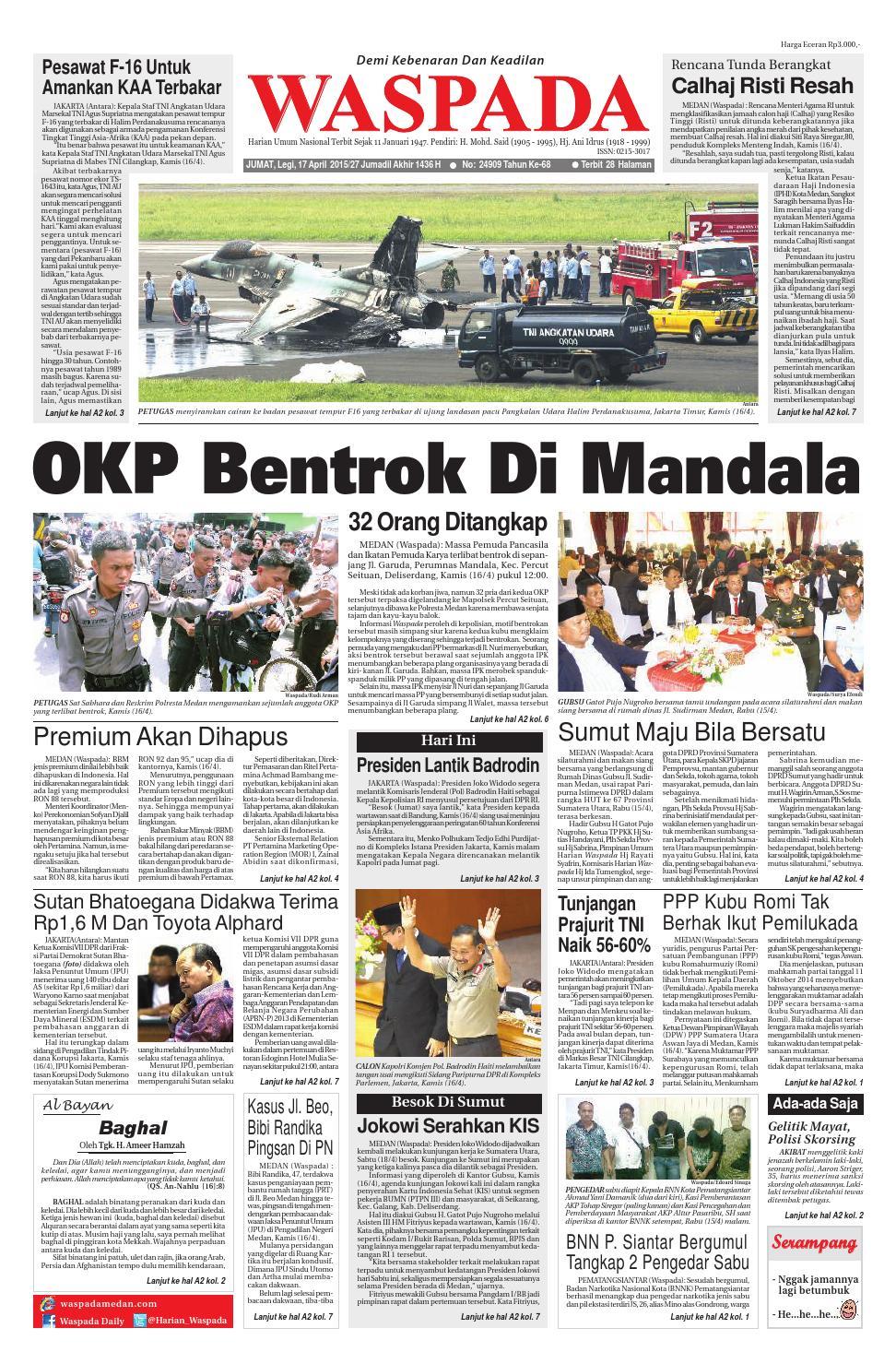 Waspada Jumat 17 April 2015 By Harian Issuu Produk Ukm Bumn Barbekyu Kelitik Surabaya