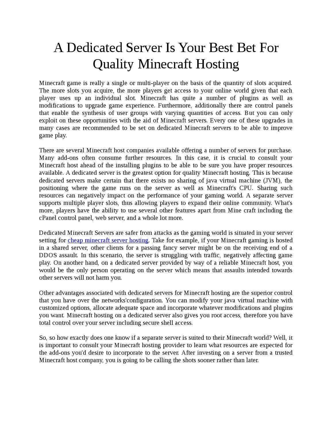 Cheap Minecraft Server Hosting By Cloudfrosthosting