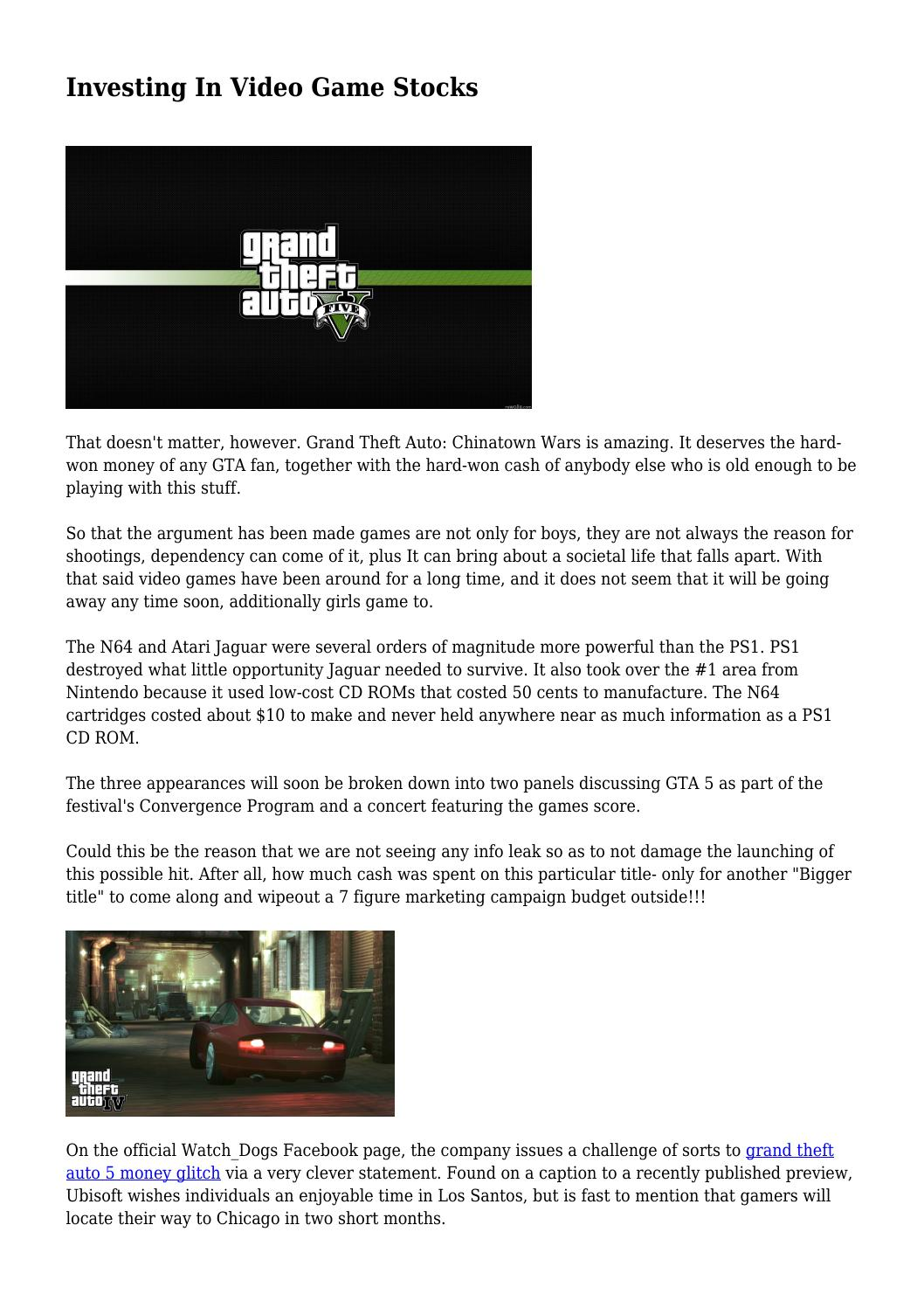 Investing In Video Game Stocks by middletonuicvyoxfoh - issuu