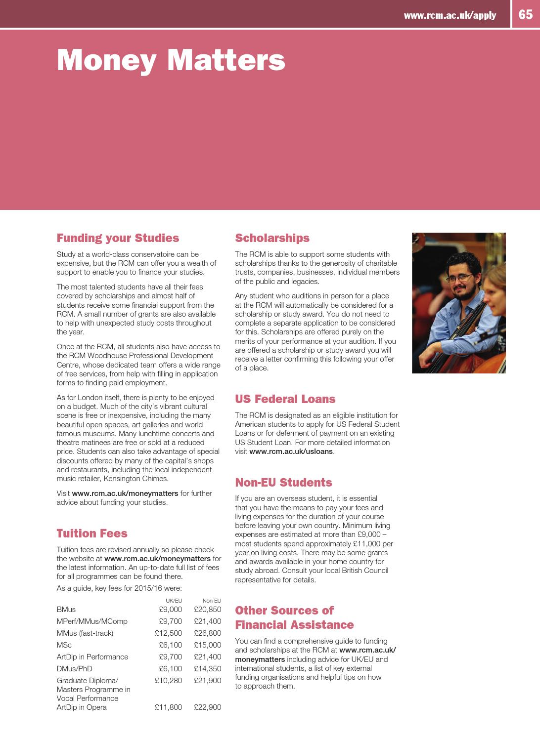 RCM 2016/17 Prospectus by Royal College of Music - issuu
