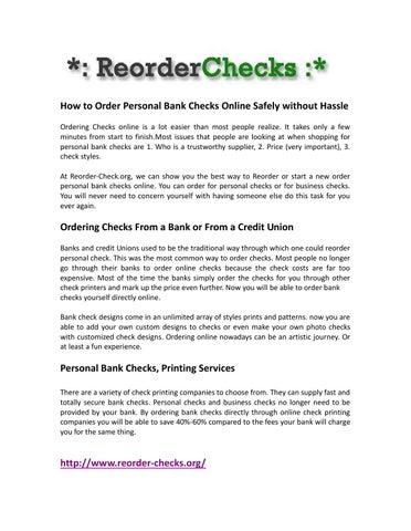 reorderchecks by adamsjockey - issuu