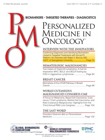 personalized medicine in oncology april 2015 by the