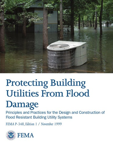 Protecting Building Utilities From Flood Damage Fema P 348 By