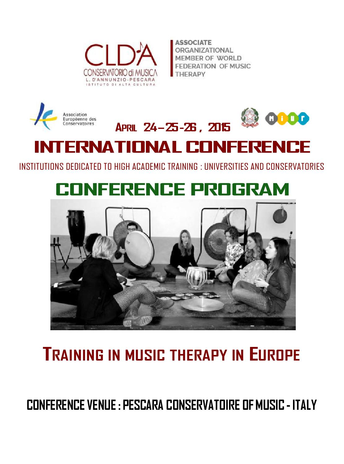 Training in music therapy in europe international for Magri arreda pescara