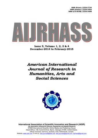 American international journal of research in humanities arts and page 1 fandeluxe Choice Image
