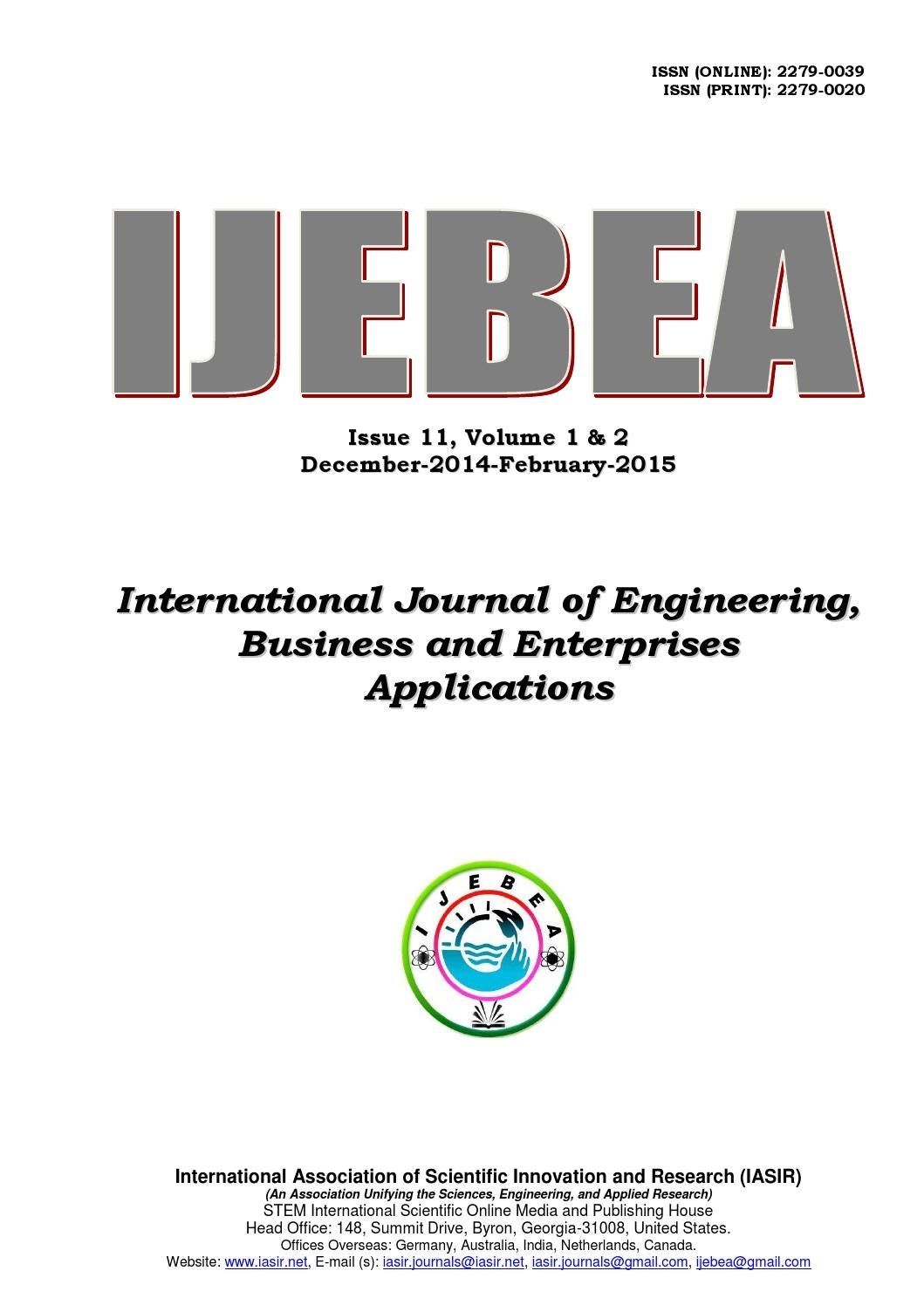 International Journal Of Engineering Business And Enterprises 1992 Gm Geo Prism Central Junction Fuse Box Diagram Applications Issue 11 Vol2 By Iasir Journals Issuu