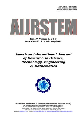 stem issue 9 vol2 by iasir journals issuu