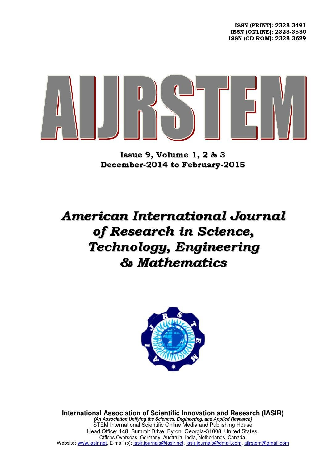 Stem Issue 9 Vol3 3 By Iasir Journals Issuu Inductive Proximity Sensor Circuit Diagram Sandhya Power Solutions