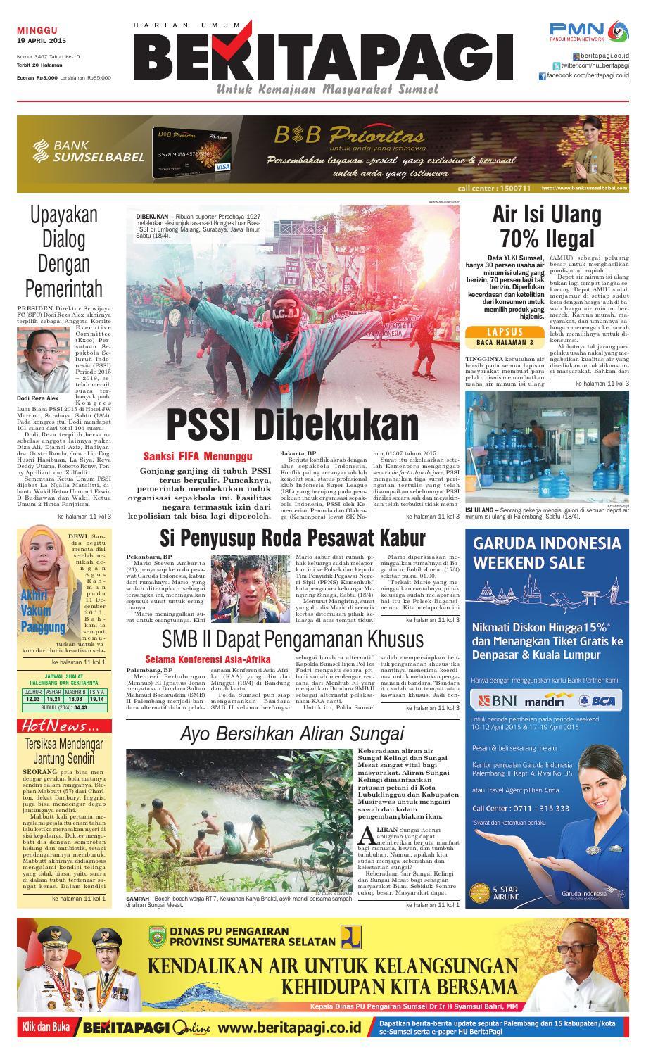 19 April 2015 By Beritapagi Issuu Weber Keranjang Ikan Besar