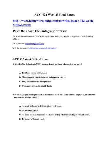 Acc 422 final exams