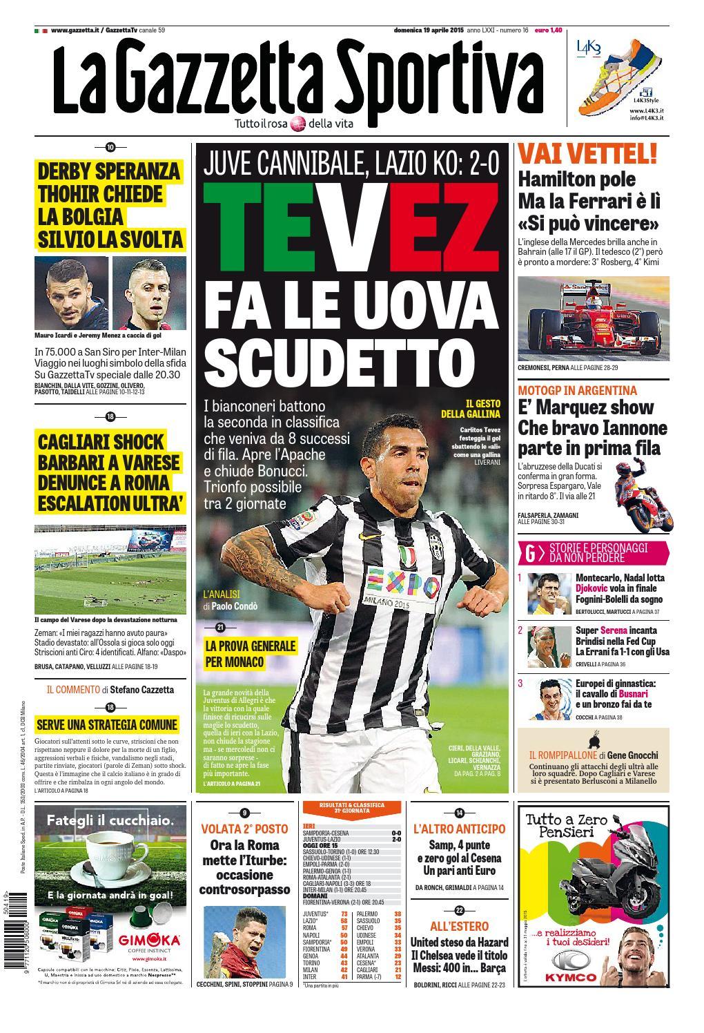 La Gazzetta dello Sport (04-19-20150 by Nguyen Duc Thinh - issuu 4a28535d39b