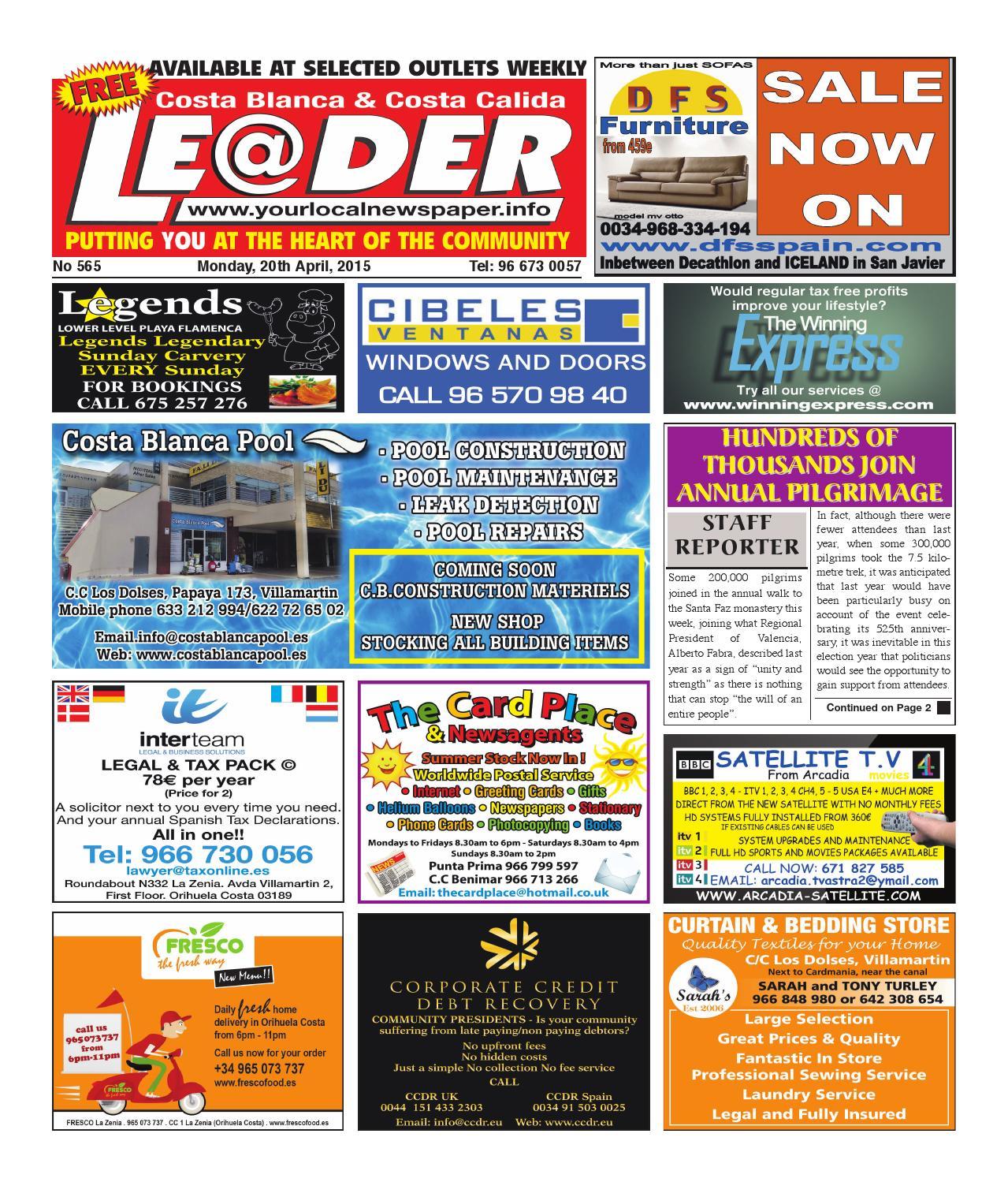de3c9f6f9 Costa Blanca Leader 565 by The Leader - issuu