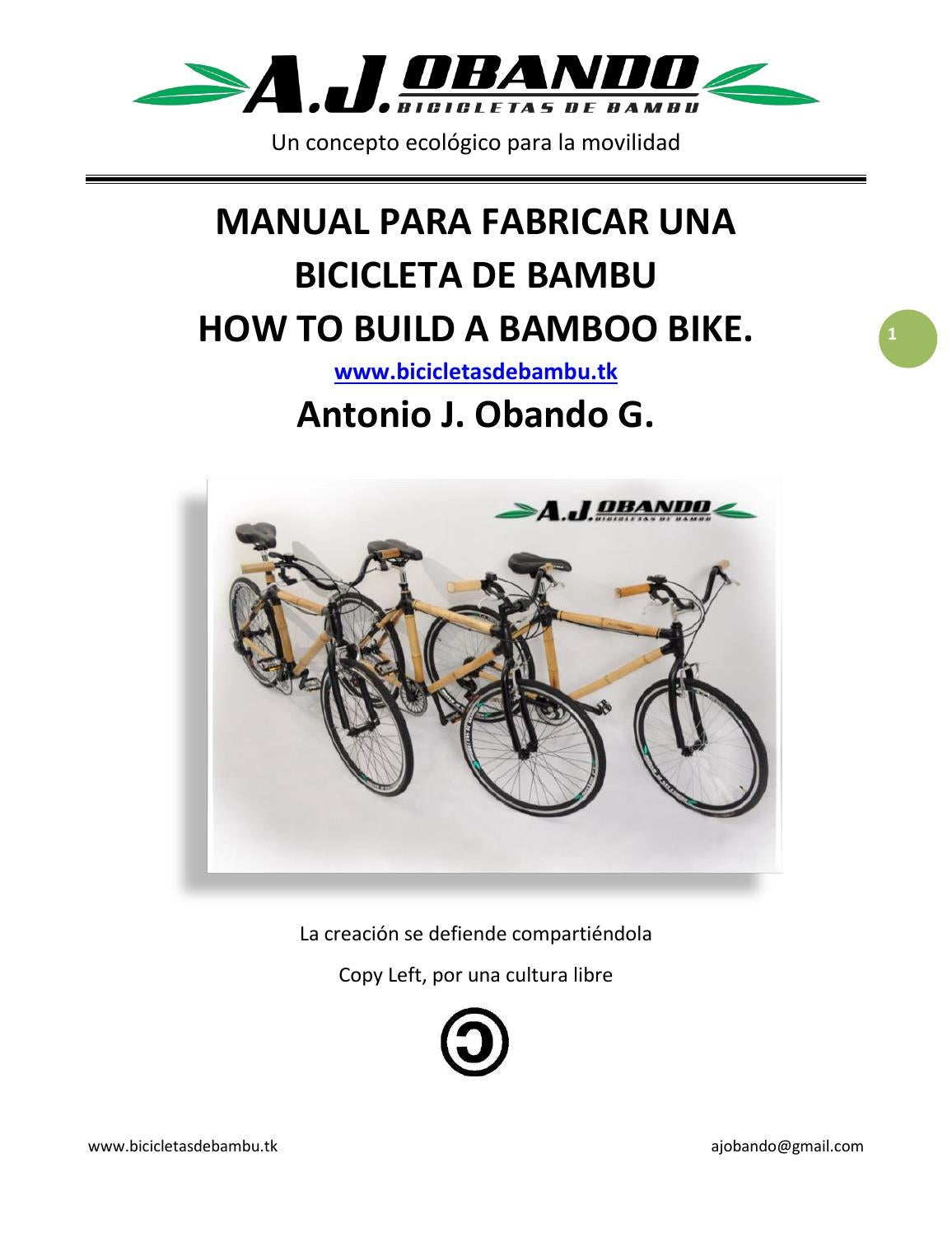 Manual para fabricar una bicicleta de bambu -How to Build a Bamboo ...