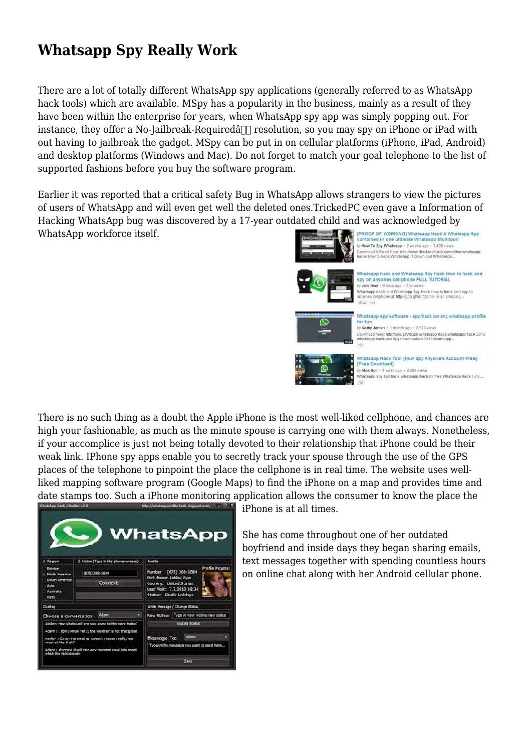 Part 2. How to Spy on WhatsApp Messages Online