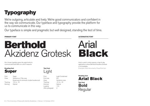 Brand guidelines abridged by The University of Newcastle - issuu