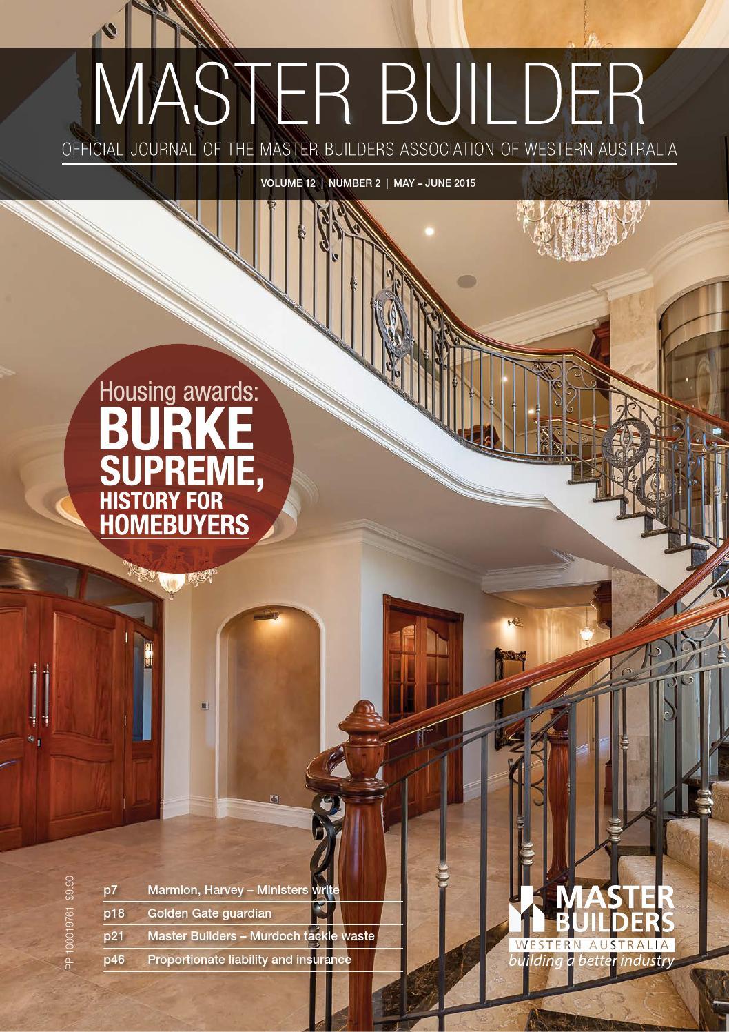 2015 Master Builders Western Australia Magazine May June