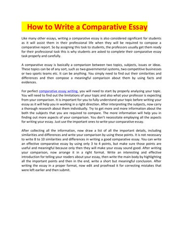 Analysis Essay Thesis Example How To Write A Comparative Essay Like Many Other Essays Writing A Comparative  Essay Is Also Considered Significant For Students As It Will Assist Them In   Research Essay Proposal Example also Essays On Health Care Reform Comparative Essay Writing By Absolute Essays  Issuu Cause And Effect Essay Topics For High School