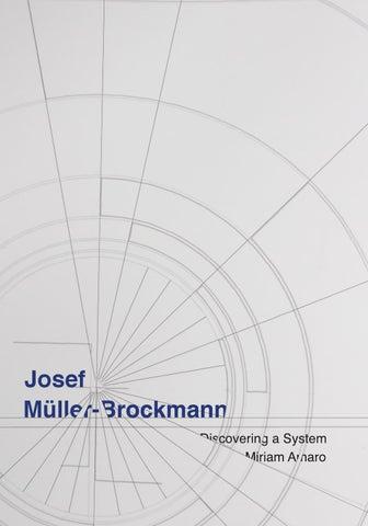 Josef Muller Brockmann Book By Miriam Amaro Issuu