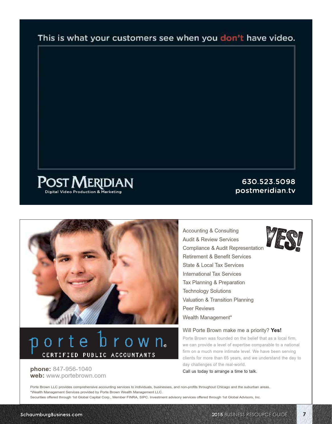 Schaumburg business association business resource guide by for Porte brown llc