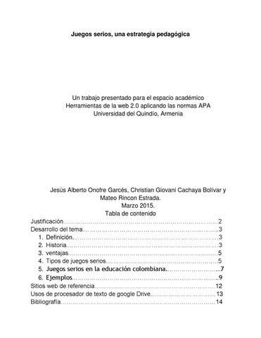 Juegos Serios By Jesus Alberto Onofre Garces Issuu