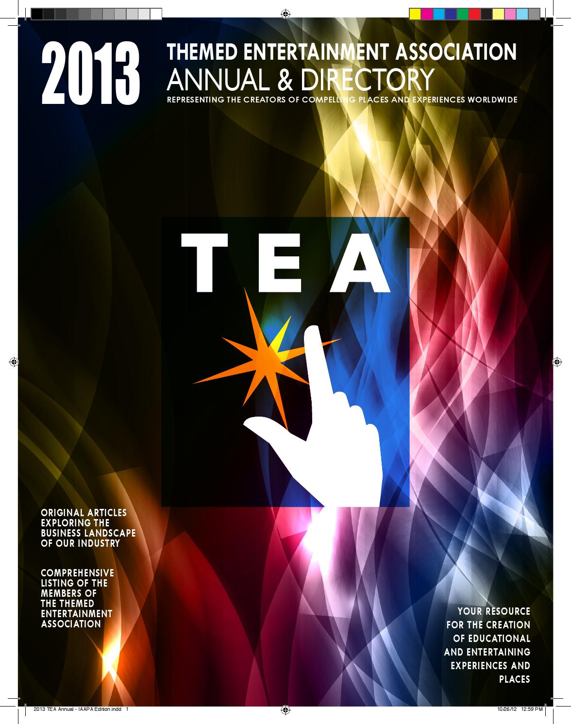 2013 Tea Annual Directory By Themed Entertainment Association Issuu 1960 Ford Ranchero Wiring Harness