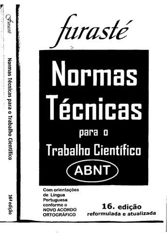 Furaste normas tecnicas abnt 2012 by jardel estevam issuu jurast normas tcnicas para a fandeluxe Choice Image