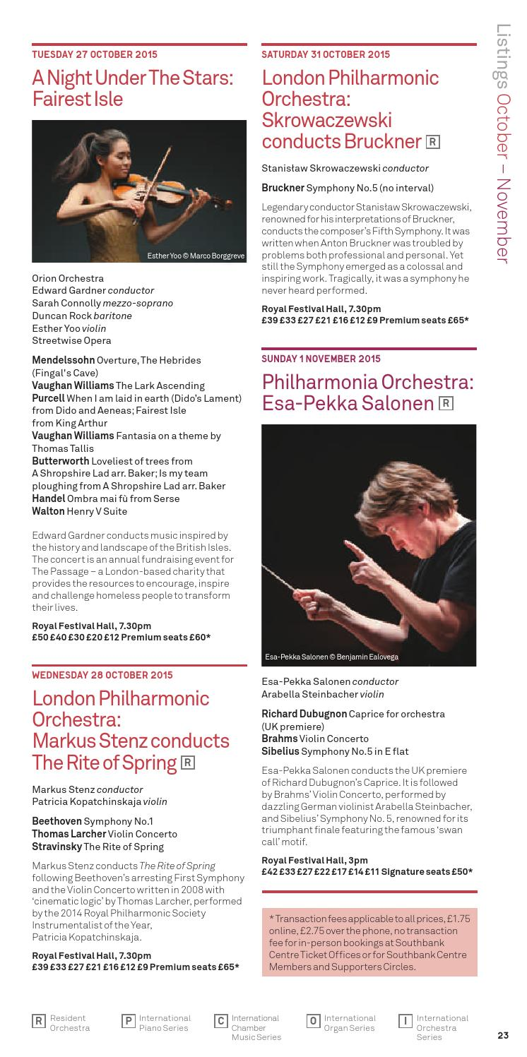 Southbank Centre's Classical Guide 2015/16 by Southbank Centre - issuu