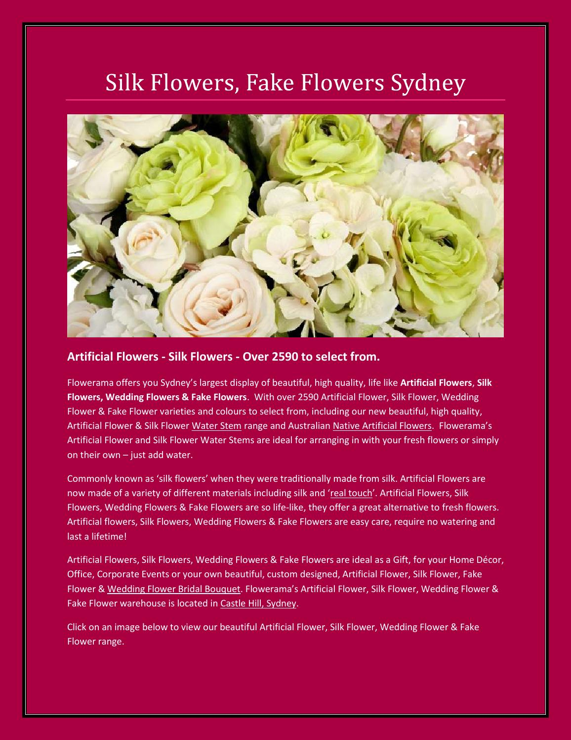 Silk Wedding Flowers By Flowerama Issuu
