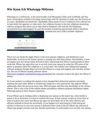whatsapp nachrichten mitlesen online