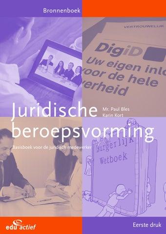 09620bb70cb Juridische beroepsvorming by Edu'Actief - issuu