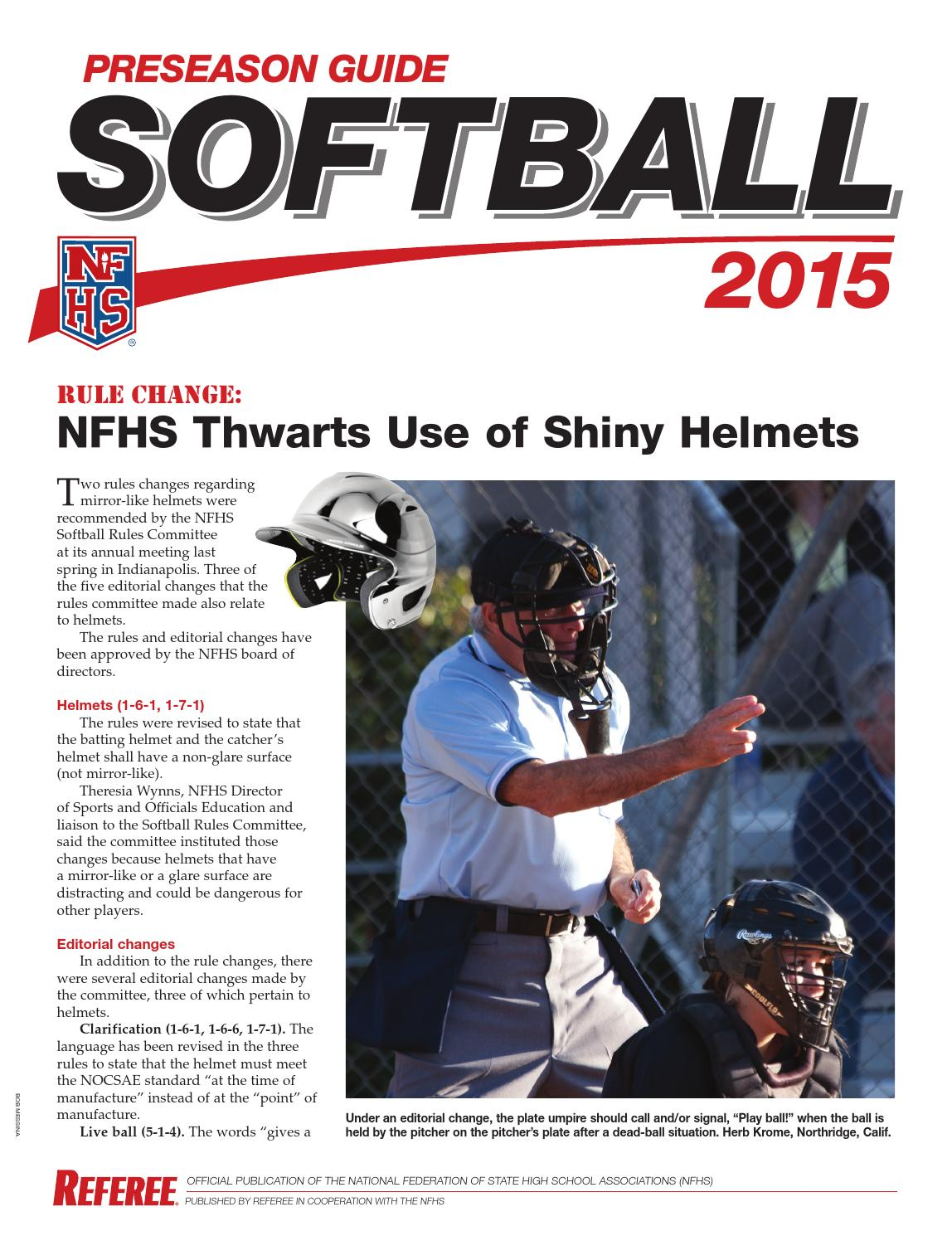2015 Nfhs Softball Umpire Mechanics Manual
