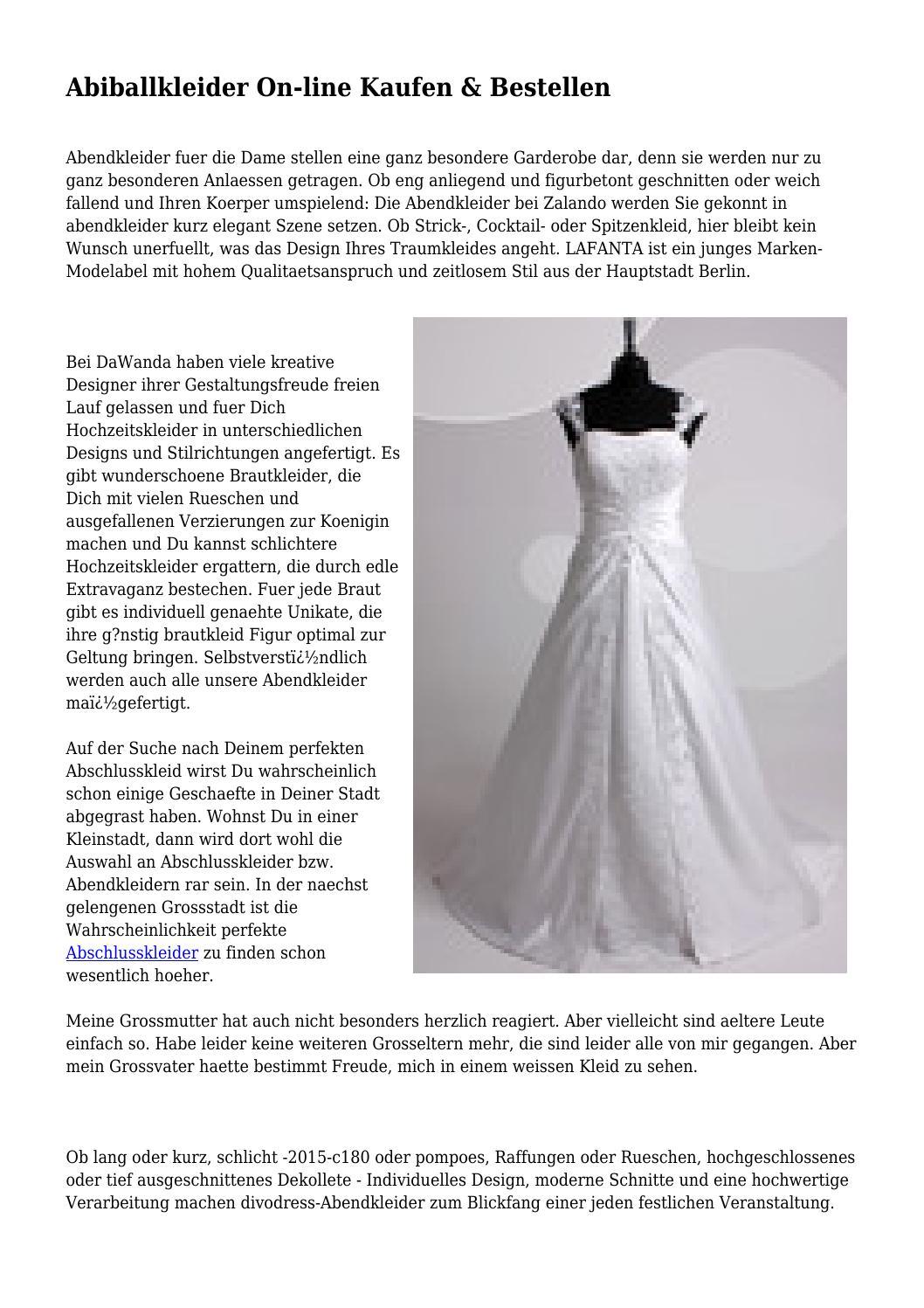 Abiballkleider On-line Kaufen & Bestellen by curlyneophyte2463 - issuu