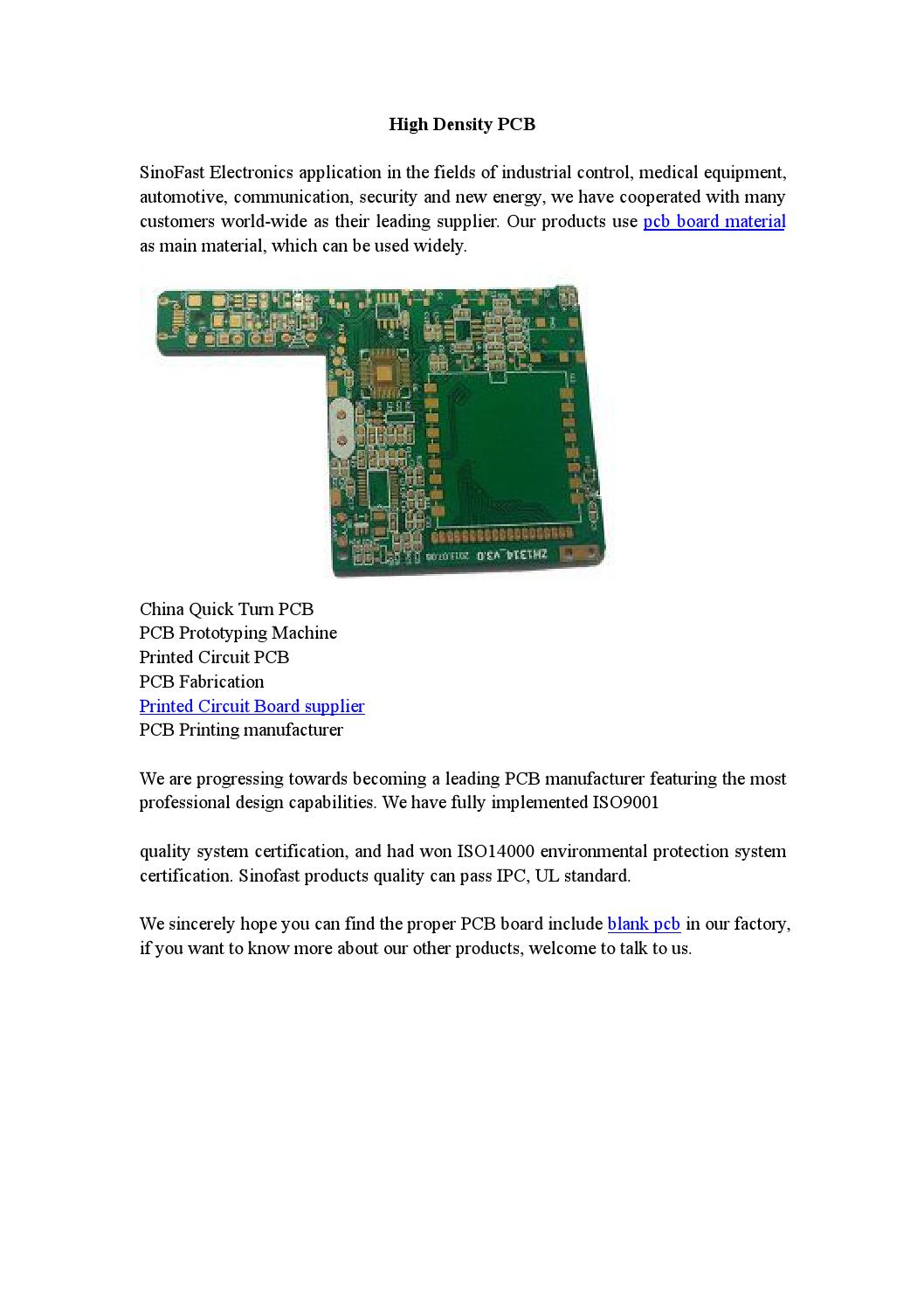 High Density Pcb By Shenzhen Sinofast Electronics Coltd Issuu Manufacturing Circuit Board