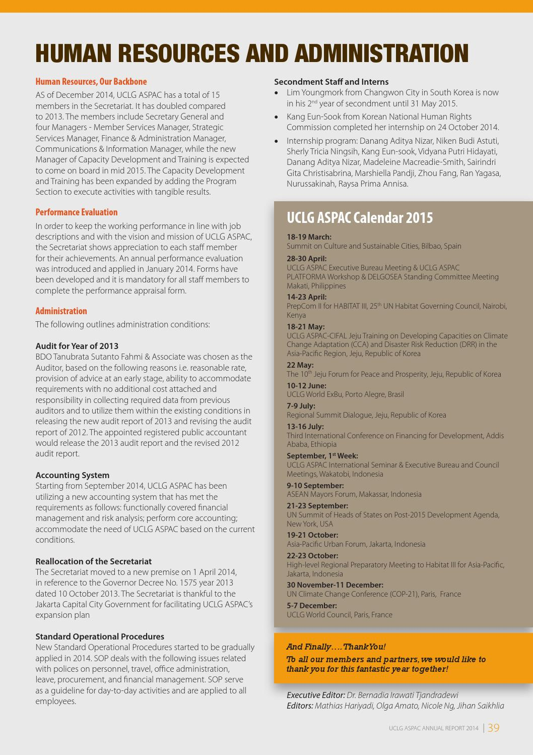UCLG ASPAC Annual Report 2014 F By UCLG ASPAC   Issuu