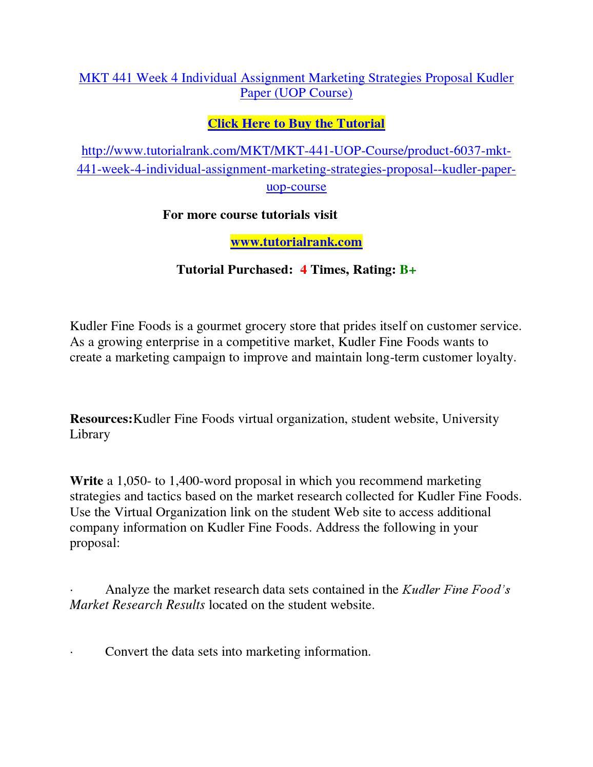 marketing research paper kudler fine foods virtual organization