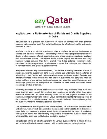 Ezyqatar com a platform to search marble and granite