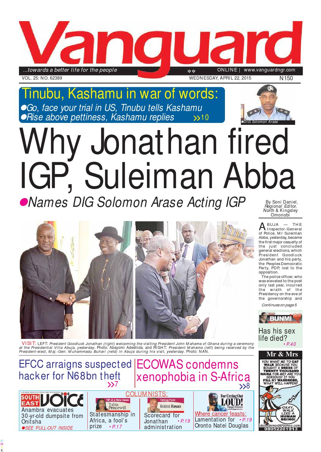 05ace4ed48f1 Why Jonathan fired IGP