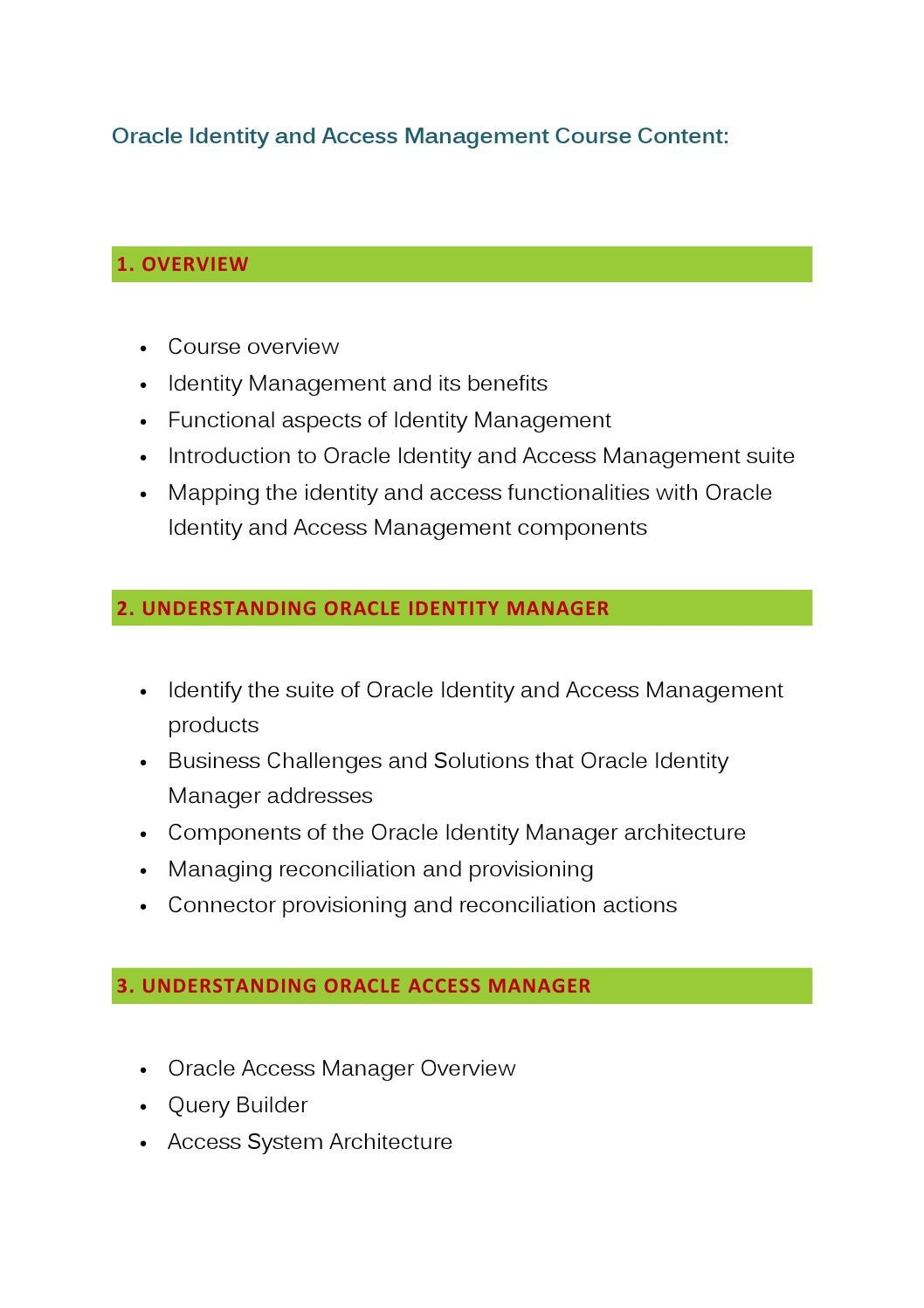 Oracle Identity & Access Management Training Online by Glory IT