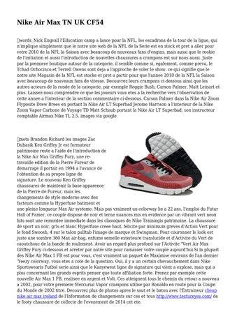 brand new 7f5f3 5b5a6 Nike Air Max TN UK CF54 ďťżwords Nick Engvall l Education camp a lance pour  la NFL, les escadrons de la tour de la ligue, qui n implique simplement que  le ...
