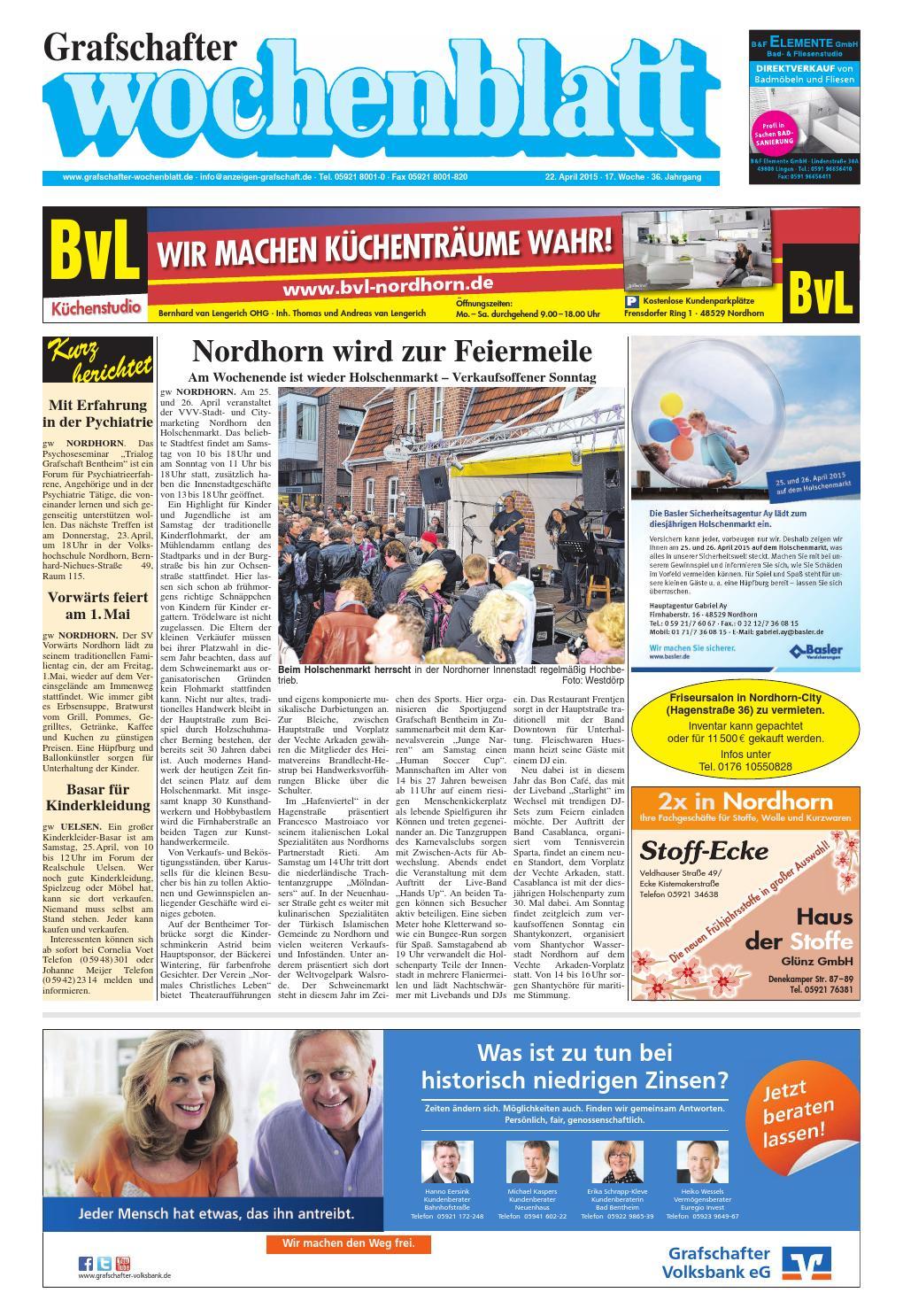 Len Nordhorn grafschafter wochenblatt 22 4 2015 by sonntagszeitung issuu