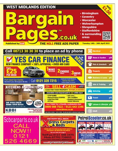 e4a9b3599830e8 Bargain Pages West Midlands, April 14th 2015 by Loot - issuu