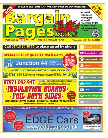 Bargain Pages Wales, April 15th 2015