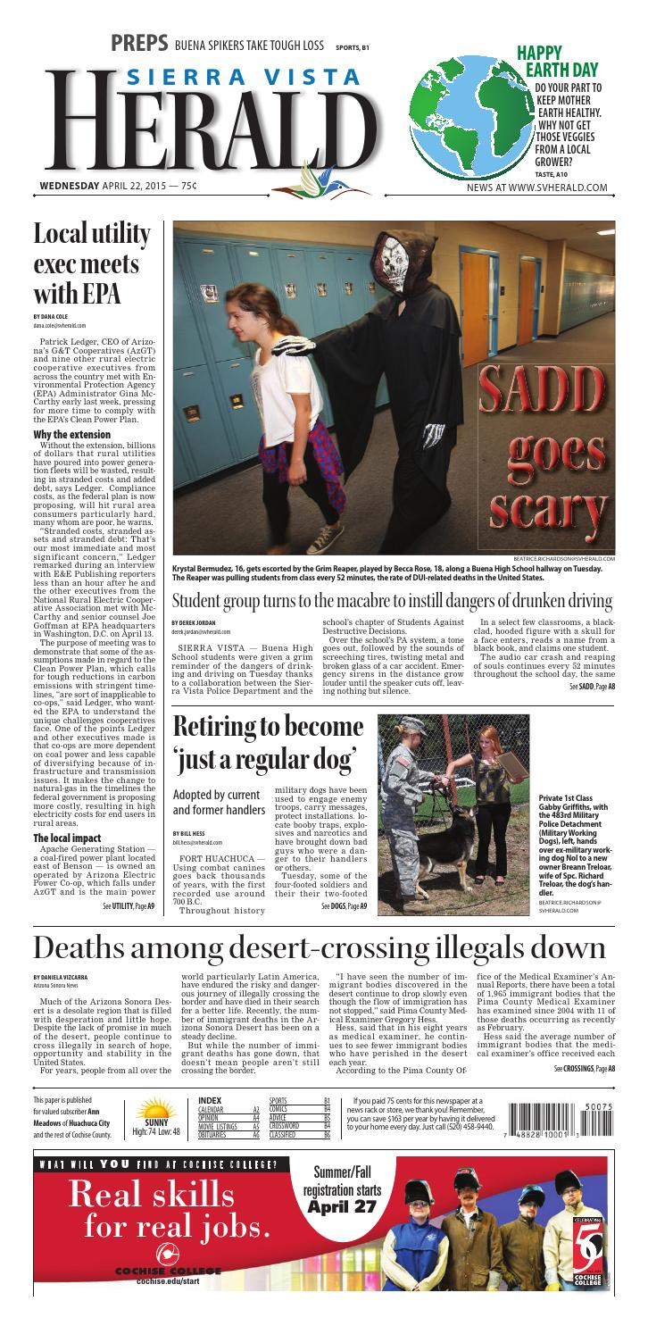 The Sierra Vista Herald - April 22, 2015 by Wick Communications - issuu