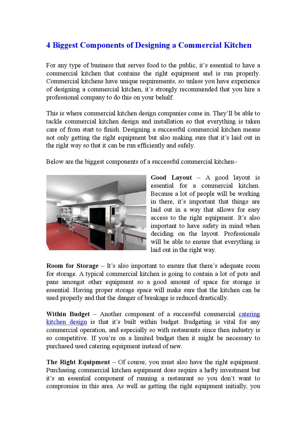 The Biggest components of a Successful Commercial Kitchen by ...