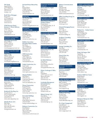 Kosciusko Chamber Membership Directory by Kosciusko ...