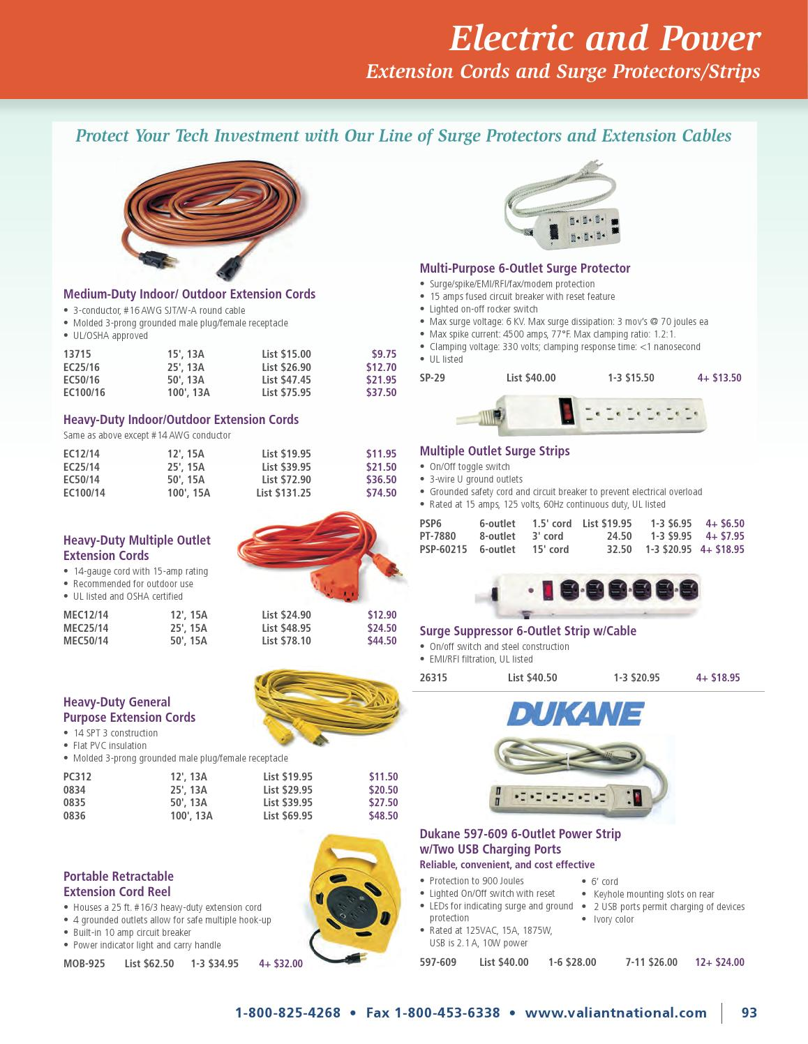Valiant National Av Supply 2015 2016 By Vcom Issuu Extension Power 25 Ft Cord Reel 4 Outlet 12 Amp Construction Circuit