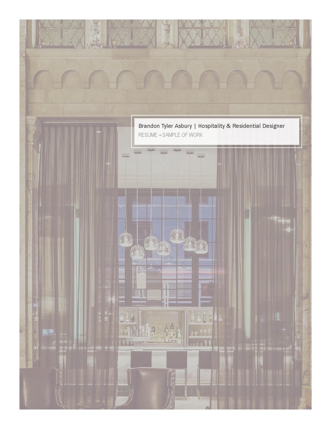 brandon asbury resume and sample of work by brandon asbury